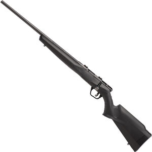 "Savage Model B17F Left Hand Bolt Action Rimfire Rifle .17 HMR 21"" Barrel 10 Rounds Synthetic Stock Black"