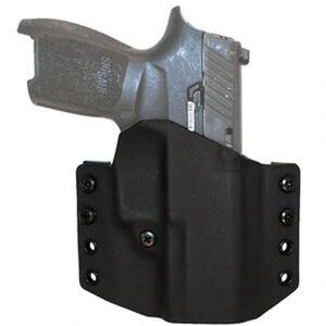 "Comp-Tac Warrior Holster Walther PPQ Sub Compact OWB Belt Slide Right Hand 1.5"" Belt Loops Kydex Black"