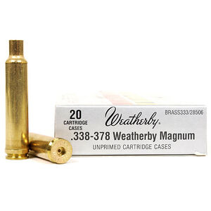 Weatherby .333-378 Weatherby Magnum Unprimed Brass Cases 20 Per Box BRASS333
