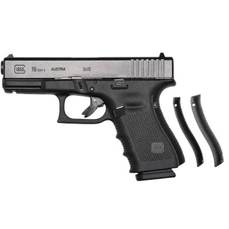 "GLOCK 19 Gen4 9mm Semi Auto Pistol 4.02"" Barrel 15 Rounds Polymer Frame Matte Black"