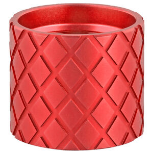 Backup Tactical Thread Protector For 30 Cal 5/8x24 Hash-Marks Aluminum Red
