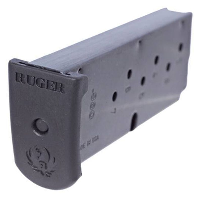 Ruger LC380 .380 ACP Magazine 7 Rounds Extended Floor Plate Steel Black 90416