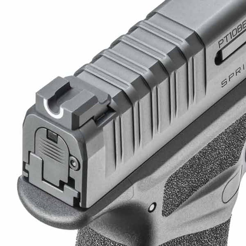 "Springfield Armory HELLCAT 9mm Luger Semi Auto Pistol 3"" Barrel 11 Rounds Fiber Optic Sight Polymer Frame Black"