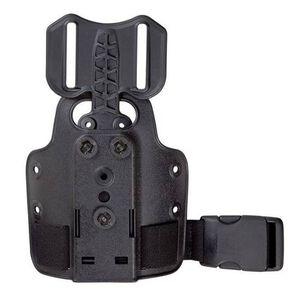 Safariland Drop Flex Adapter on Single Strap Leg Shroud, Black