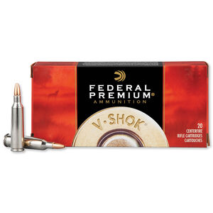 Federal V-Shok .22-250 Remington Ammunition 20 Rounds Speer Lead Free TNT HP 43 Grains P22250D