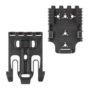 Safariland Quick Locking System Kit 1 with Duty Locking Fork and Receiver Plate Metal Black QUICK-KIT1-2