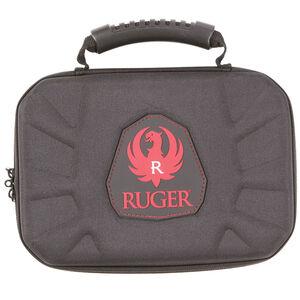 "Allen Company Ruger Blockade Molded Handgun Case 9"" Micro Egg Crate Interior Black/Red"