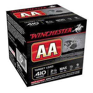 "Winchester AA Target .410 2-1/2"" #9 Shot 1/2oz 250 Rnd Case"