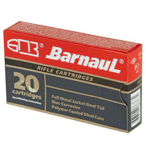 Barnaul Rifle Cartridges .308 Winchester Ammunition 500 Rounds 168 Grain Full Metal Jacket Boat Tail Projectile Steel Cased Cartridges