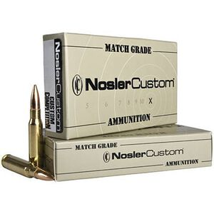 Nosler .223 Rem 69 Grain Match Grade BTHP 20 Round Box