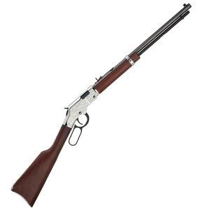 "Henry Silver Eagle Lever Action Rifle .22 WMR 20"" Octagonal Barrel 12 Rounds Nickel Engraved Receiver  Walnut Stock Blued H004SEM"