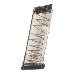 Elite Tactical Systems GLOCK 43 9mm Luger Magazine 9 Rounds Polymer Clear Smoke Finish