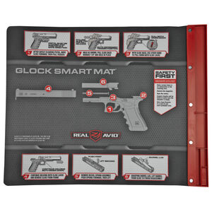 """Real Avid Glock Smart Mat 19"""" x 16"""" Padded Cleaning Mat with Glock Illustrated Disassembly AVGLOCKSM"""