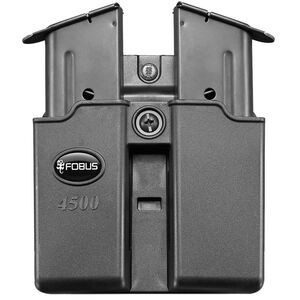 Fobus Double Magazine Pouch 1911 .45 ACP Single Stack Magazines Belt Attachment Ambidextrous Polymer Black