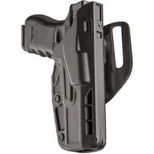 "Safariland 7390 7TS ALS Mid Ride Level 1 Retention Duty Holster Right GLOCK 19/23 with 4"" Barrel STX Plain Finish Black 7390-283-411"