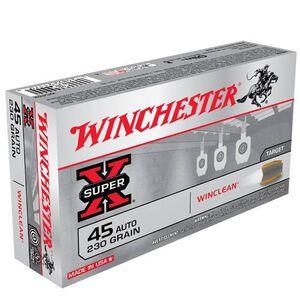 Winchester WinClean .45 ACP Ammunition 230 Grain JSP 875 fps