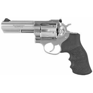 """Ruger GP100 KGP-141 .357 Magnum Revolver 4.20"""" Barrel 6 Rounds Black Hogue Monogrips Stainless Steel"""