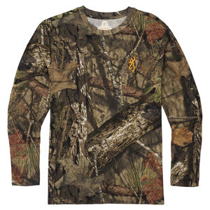 Browning Wasatch-CB Mens Camo T-Shirt Large Long Sleeve Regular Fit Cotton MOBUC