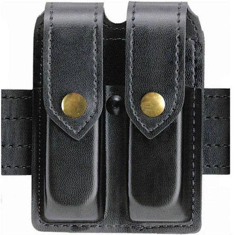 Safariland Double Magazine Pouch GLOCK 17, 22, 31, 34, 35, 37 Brass Snaps Plain Finish Black 77-83-22B