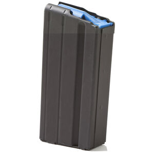 ASC AR-15 Magazine 6.5 Grendel 15 Rounds Blue Polymer Follower Stainless Steel Body Matte Black Finish