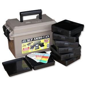 MTM Case-Gard Ammo Can, Pistol Multi-Caliber Combo Kit, Water-Resistant, Dark Brown Earth