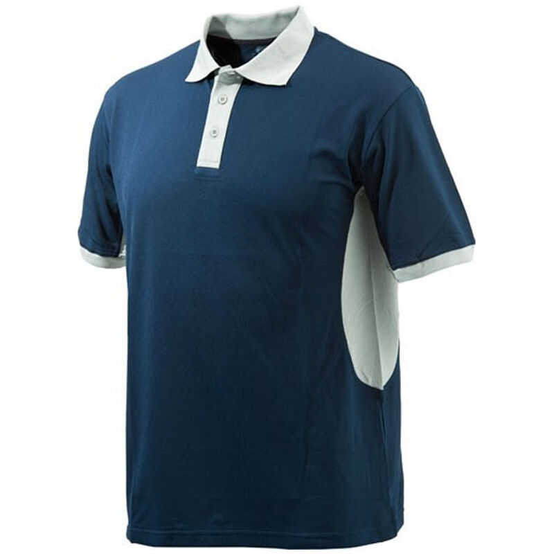 Beretta Special Purchase Men's Polo Short Sleeve Medium Cotton Navy Blue and Silver