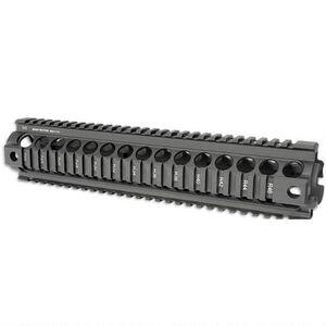 Midwest Industries AR-10 Gen II Rifle Length Drop In Railed Handguard Aluminum Black MI-AR10-RHG2