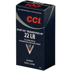 CCI Quiet-22 .22 LR Sub-Sonic Ammunition 40 Grain Segmented HP 2550 fps
