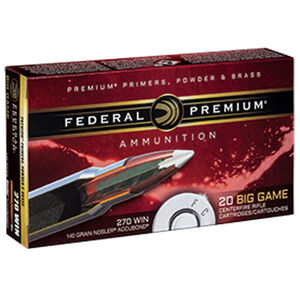 Federal Premium Nosler .270 Winchester Ammunition 20 Rounds 140 Grain Nosler Accubond 2950fps