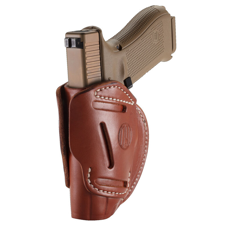 1791 Gunleather 3WH 3 Way Multi-Fit OWB Concealment Holster for Full Size/Compact Semi Auto Models Ambidextrous Draw Leather Classic Brown