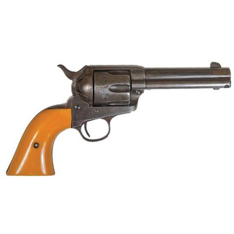 "Cimarron Rooster Shooter Revolver .45 LC 4.75"" Barrel 6 Rounds Orange Grip Distressed Blued RS410"