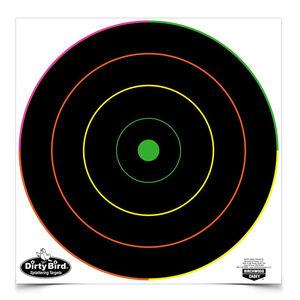 Birchwood Casey Dirty Bird 12 inch Bull's-Eye Multicolor Ring Splatter 100 Pack