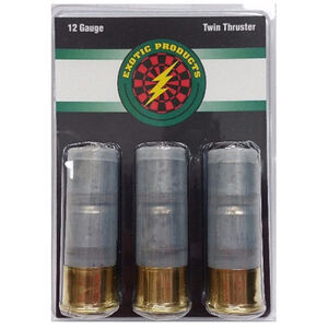 "Exotic Products Twin Thruster 12 Gauge Ammunition 3 Rounds 2.75"" Two 1 oz Lead Slugs 00001"
