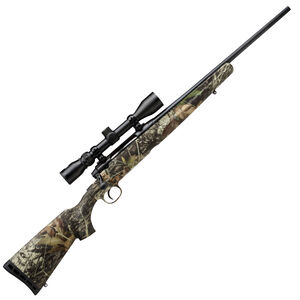"Savage Axis XP Camo Compact Bolt Action Rifle .243 Winchester 20"" Barrel 4 Rounds Detachable Box Magazine Weaver 3-9x40 Riflescope Synthetic Stock Mossy Oak Break Up Country Finish"