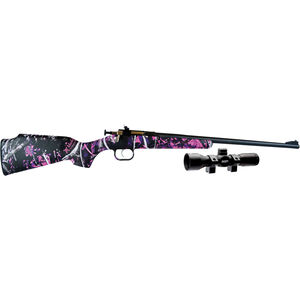 "Keystone Arms Crickett Single Shot Bolt Action Rimfire Rifle .22 LR 16.125"" Barrel Muddy Girl Synthetic Stock Blued Barrel KSA2160PKG"
