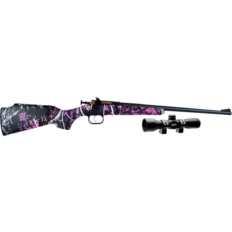 "Keystone Arms Crickett Single Shot Bolt Action Rimfire Rifle .22 LR 16.125"" Barrel Muddy Girl Synthetic Stock Blued Barrel KSA2160PKG"