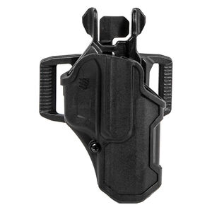 BLACKHAWK! T-Series L2C Overt LB OWB Glock 17/19/22/23/31/32/45/47 with Streamlight TLR 7/8 Right Handed Holster Polymer Black