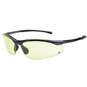 Bollé CONTOUR Safety Glasses Low Energy Impact Rated Yellow Lenses Metal Frame 40045