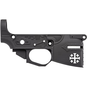 Spikes Tactical Rare Breed Crusader Stripped AR-15 Lower Receiver 7075-T6 Billet Aluminum Multi-Cal Marked Anodized Black