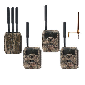 """Covert Scouting Cameras LORA LB-V3 Verizon LTE Camo 1.50"""" Color Display 32 MP Resolution No Glow Flash SD Card Slot/Up to 32GB Memory Includes Base Unit & 3 Connected Cams"""