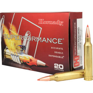 Hornady 7mm Remington Magnum Ammunition 20 Rounds GMX 139 Grains