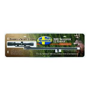 """Mossberg 500 Rifled Slug Barrel 12 Gauge 24"""" Cantilever Mount 3-9x32 Scope Blued 92156"""
