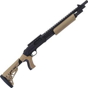 "Mossberg Model 500 ATI Scorpion Pump Action Shotgun 12 Gauge 18.5"" Barrel  5 Rounds 3"" Chamber Adjustable Stock Heat Shield Flat Dark Earth/Black 50424"