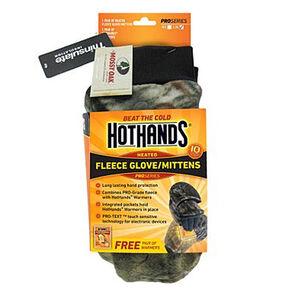 Hot Hands Fleece Glove Mitten Color Mossy Oak Size L/XL