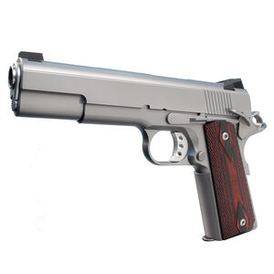 """Ed Brown 18 Executive Elite Semi Auto Pistol .45 ACP 5"""" Barrel 7 Rounds Gold Bead Front Sight/Fixed Black Rear Stainless Steel Matte Finish"""