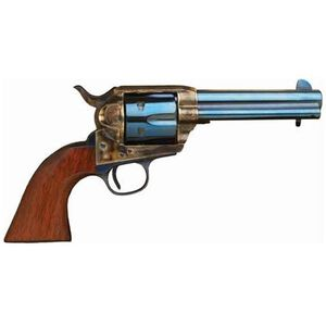 "Cimarron Model ""P"" Single Action Revolver .45 Long Colt 4.75"" Barrel 6 Rounds Walnut Grips Blue Cased Finish MP512C00"