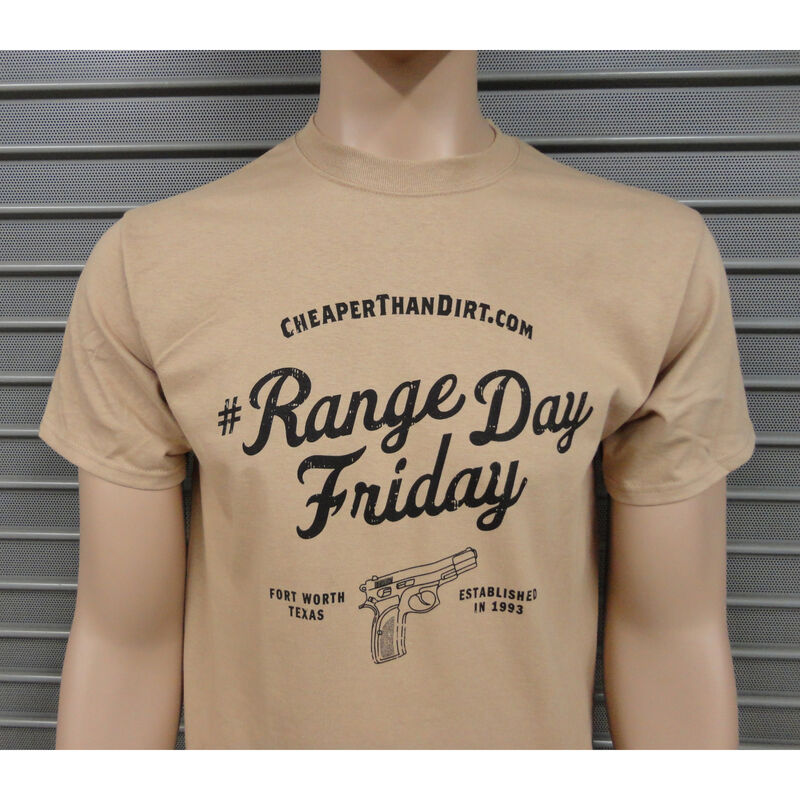 Cheaper Than Dirt Range Day Friday Sand T-Shirt