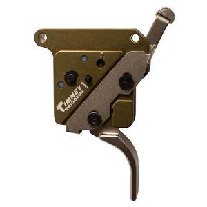 Timney Remington 700 Elite Hunter Drop-In Trigger Adjustable Pull Straight Trigger Green/Nickel Plated