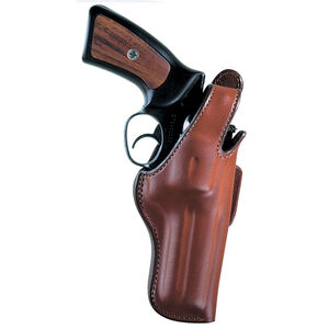 """Bianchi 5BHL Thumbsnap Holster Ruger SP101, S&W 36, 37, 60, Taurus 85 3"""" Barrel Right Hand Suede Lined Leather Tan"""