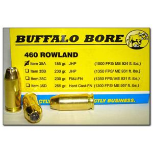 Buffalo Bore .460 Rowland Ammunition 20 Rounds JHP 185 Grain 35A/20